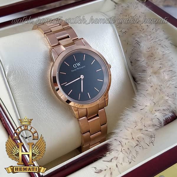 قیمت ساعت زنانه دنیل ولینگتون Daniel Wellington DWL21 رزگلد(صفحه-مشکی)