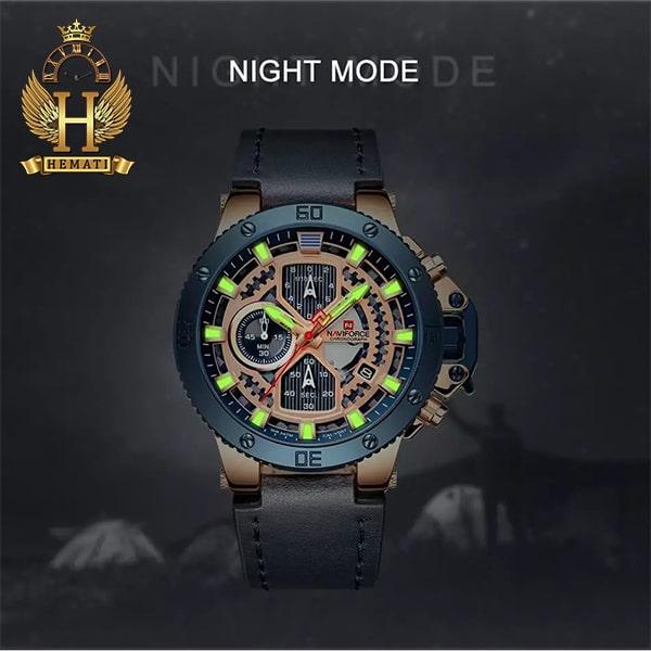 مشخصات ساعت مردانه نیوی فورس مدل naviforce nf9159m سرمه ای رزگلد