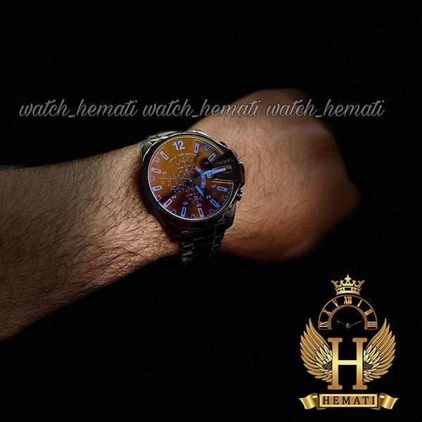 خرید انلاین ساعت دیزل شاخدار مدل diesel dz-4308 رنگ مشکی و رنگ شیشه آبی