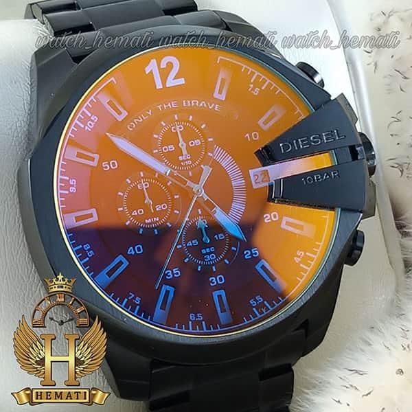 خرید اینترنتی ساعت مردانه دیزل شاخدار مدل diesel dz-4308 به رنگ مشکی و شیشه آبی
