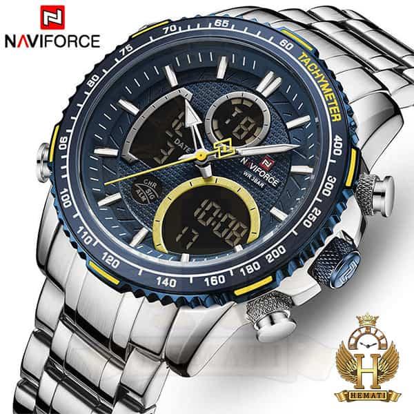 قیمت ساعت مردانه دو زمانه نیوی فورس مدل naviforce nf9182m نقره ای آبی