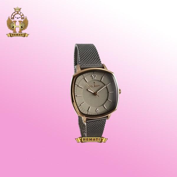 خرید ساعت زنانه کلبرت COLBERT 0213L ،رنگ رزگلد، صفحه مربع ،در رنگبندی ، بند حصیری، همراه گارانتی و جعبه و پاکت