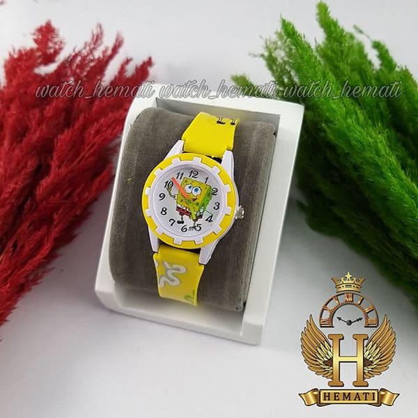 مشخصات ساعت بچه گانه باب اسفنجی شلوار مکعبی زرد