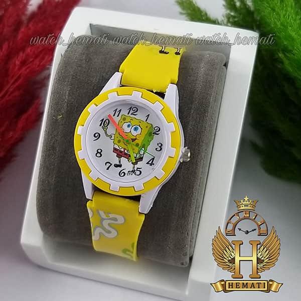 خرید اینترنتی ساعت بچه گانه باب اسفنجی شلوار مکعبی زرد