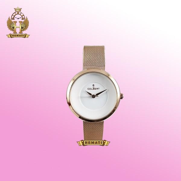 خرید COLBERT 0208L ساعت زنانه کلبرت اورجینال رنگ رزگلد با بند حصیری ،همراه جعبه و پاکت و گارانتی شرکتی