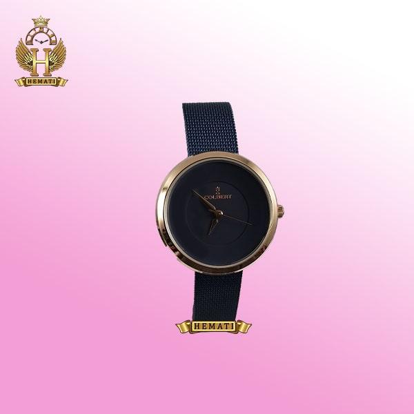 خرید COLBERT 0208L ساعت زنانه کلبرت اورجینال رنگ سرمه ای رزگلد با بند حصیری ،همراه جعبه و پاکت و گارانتی شرکتی