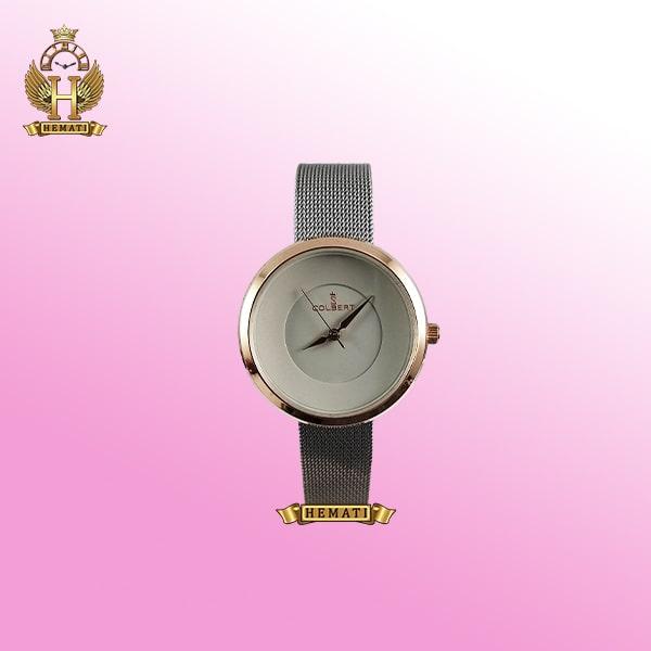 خرید COLBERT 0208L ساعت زنانه کلبرت اورجینال رنگ طوسی رزگلد با بند حصیری ،همراه جعبه و پاکت و گارانتی شرکتی