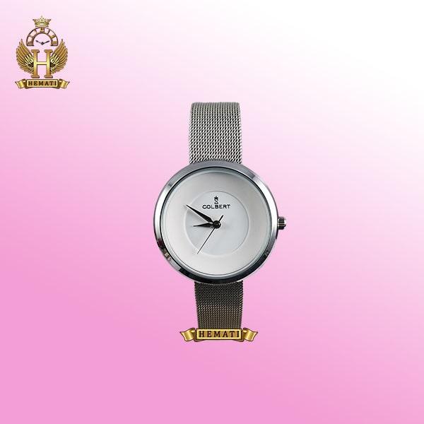 خرید COLBERT 0208L ساعت زنانه کلبرت اورجینال رنگ نقره ای با بند حصیری ،همراه جعبه و پاکت و گارانتی شرکتی