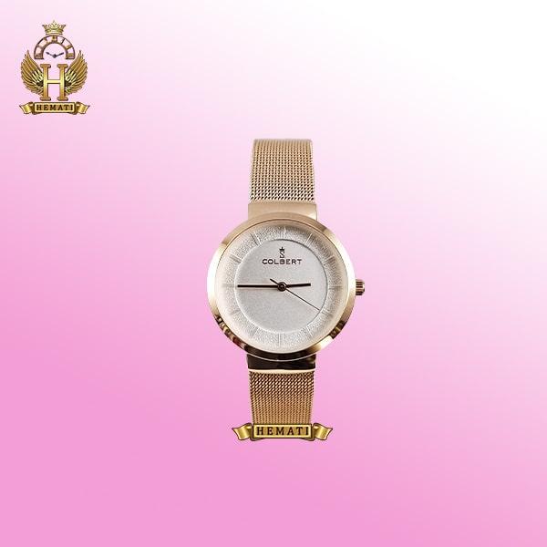 خرید colbert 0212l ساعتمچی زنانه کلبرت اورجینال با بند حصیری در رنگ رزگلد با رنگ صفحه سفید ،طوسی ،قهوه ای