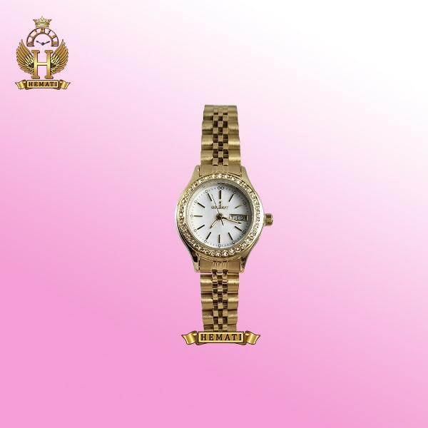 خرید colbert 0218l ساعتزنانه کلبرت طرح رولکس دارای تقویم هفته و ماه رنگ طلایی همراه گارانتی و جعبه و پاکت شرکتی