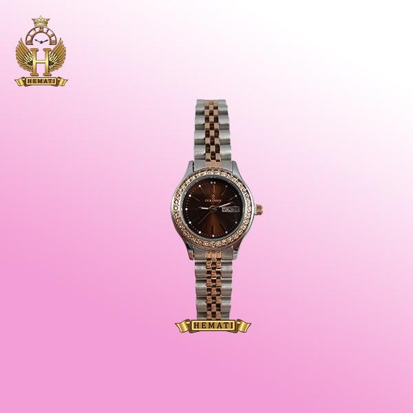خرید colbert 0218l ساعتزنانه کلبرت طرح رولکس دارای تقویم هفته و ماه رنگ نقره ای رزگلد همراه گارانتی و جعبه و پاکت شرکتی