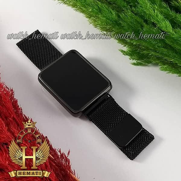 خرید ، قیمت ، مشخصات ساعت ال ای دی اسپرت led106 (بند مگنتی) قاب مستطیل و رنگ مشکی