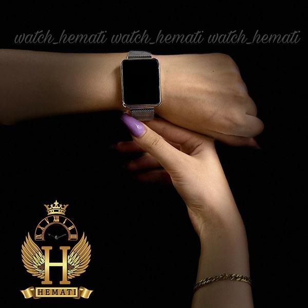 خرید اینترنتی ساعت ال ای دی اسپرت led107 (بند مگنتی) قاب مستطیل و رنگ نقره ای