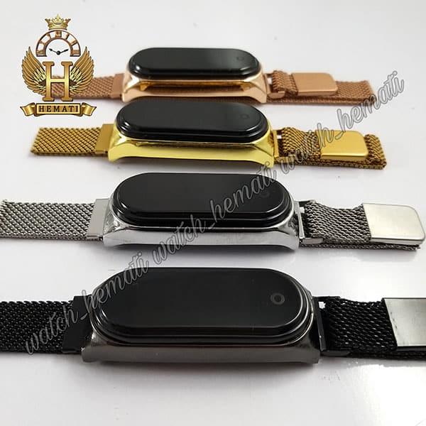 خرید ساعت ال ای دی تاچ بند مگنتی طرح شیائومی در رنگبندی