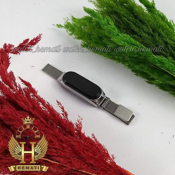 مشخصات ساعت ال ای دی طرح شیائومی تاچ و بند مگنتی رنگ نقره ای