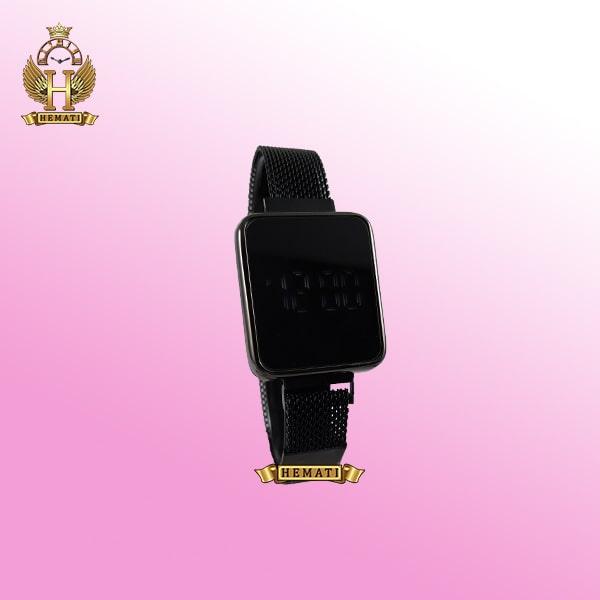 ساعت ال ای دی زنانه led102 (بند مگنتی) قاب مستطیلی رنگ مشکی