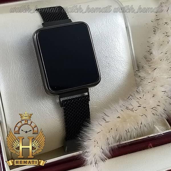 مشخصات ساعت ال ای دی زنانه led102 (بند مگنتی) قاب مستطیلی رنگ مشکی