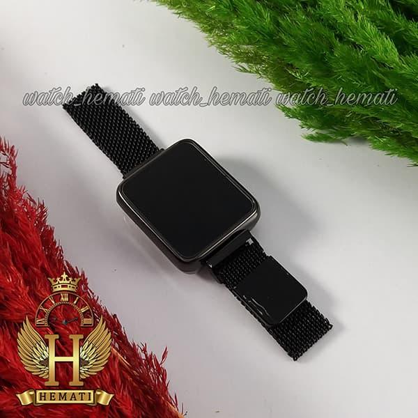 خرید انلاین ساعت ال ای دی زنانه led102 (بند مگنتی) قاب مستطیلی رنگ مشکی