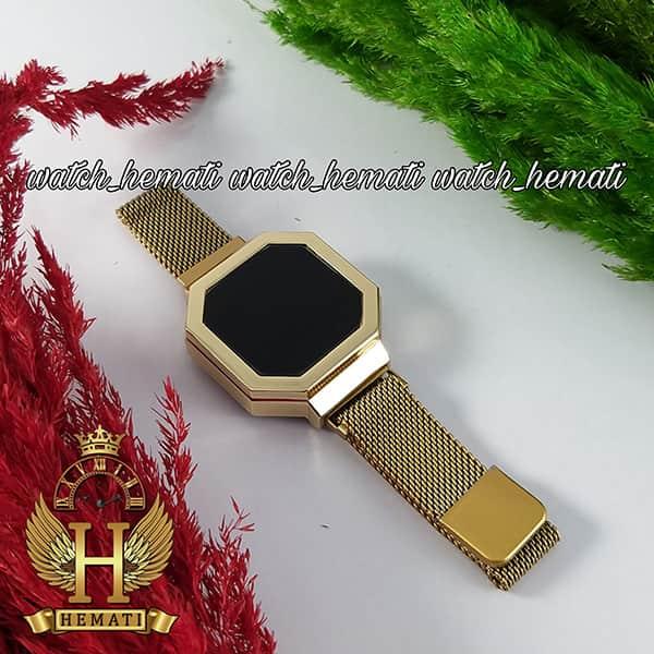 خرید ارزان ساعت ال ای دی زنانه led301 (بند مگنتی) قاب و بند طلایی