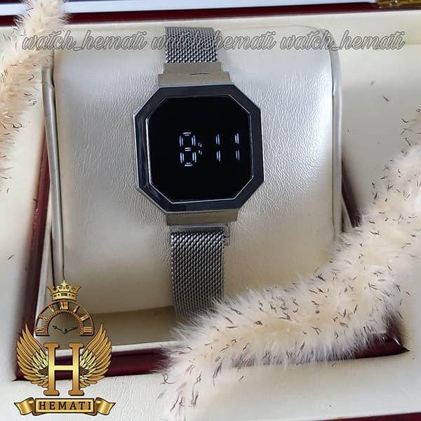 خرید ، قیمت ، مشخصات ساعت ال ای دی زنانه led303 (بند مگنتی) قاب و بند نقره ای