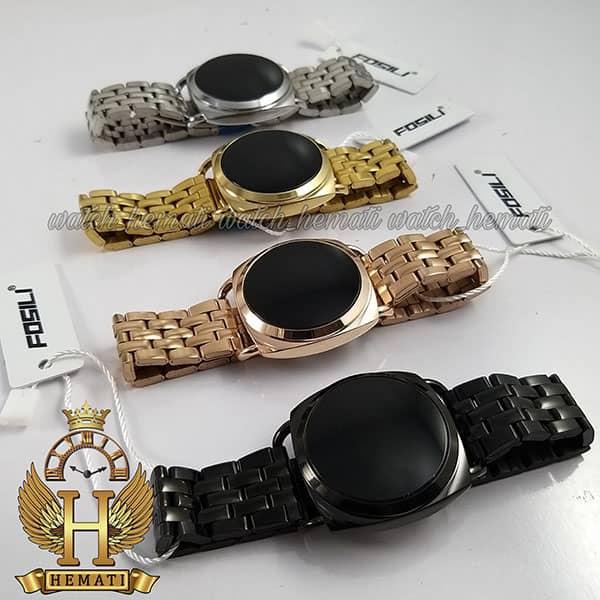 مشخصات ساعت ال ای دی زنانه قاب و بند در رنگبندی و ال ای دی سفید