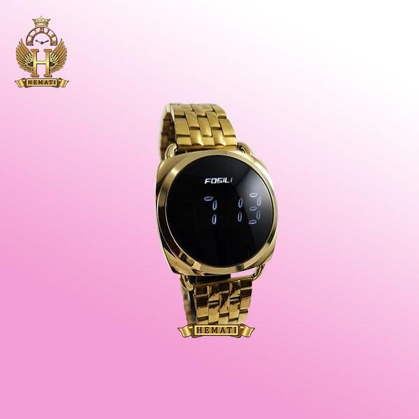 ساعت ال ای دی زنانه FOL101 قاب و بند طلایی و ال ای دی سفید