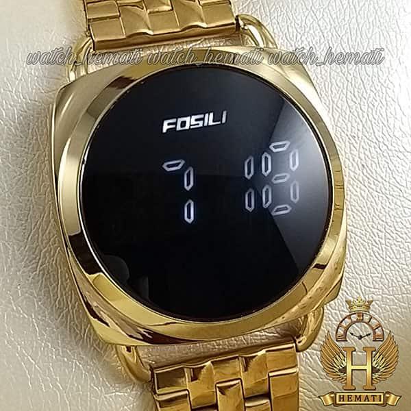 خرید ، قیمت ، مشخصات ساعت ال ای دی زنانه FOL101 قاب و بند طلایی و ال ای دی سفید