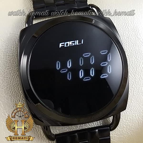 خرید انلاین ساعت ال ای دی زنانه FOL102 قاب و بند مشکی و ال ای دی سفید