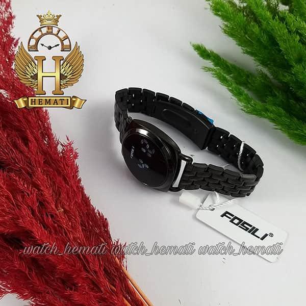 خرید ، قیمت ، مشخصات ساعت ال ای دی زنانه FOL102 قاب و بند مشکی و ال ای دی سفید