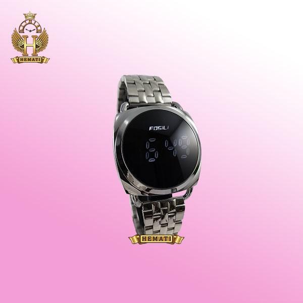 خرید ، قیمت ، مشخصات ساعت ال ای دی زنانه FOL103 قاب و بند نقره ای و ال ای دی سفید