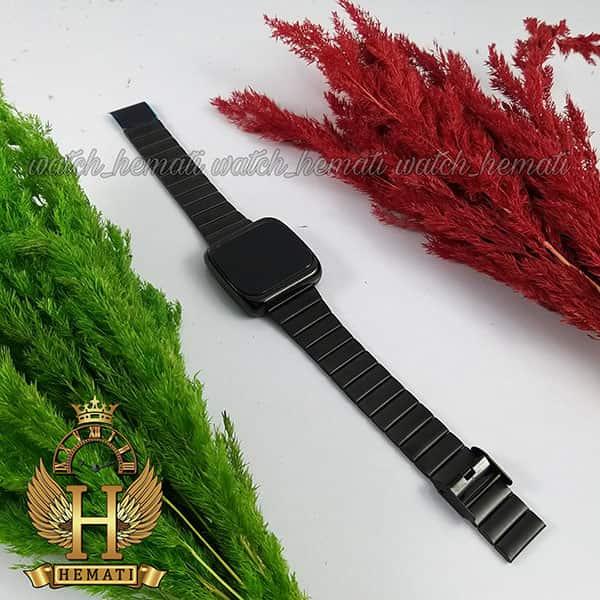 خرید انلاین ساعت ال ای دی اسپرت FOL112 قاب مربع بند استل حصیری تیکه ای رنگ مشکی
