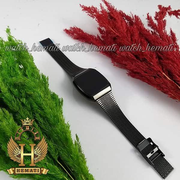 خرید ، قیمت ، مشخصات ساعت ال ای دی اسپرت FOL107 صفحه مربع رنگ تمام مشکی
