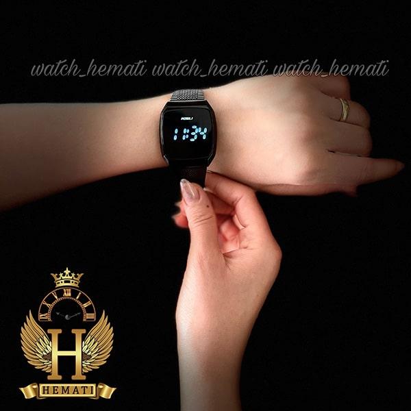 خرید ارزان ساعت ال ای دی اسپرت FOL107 صفحه مربع رنگ تمام مشکی