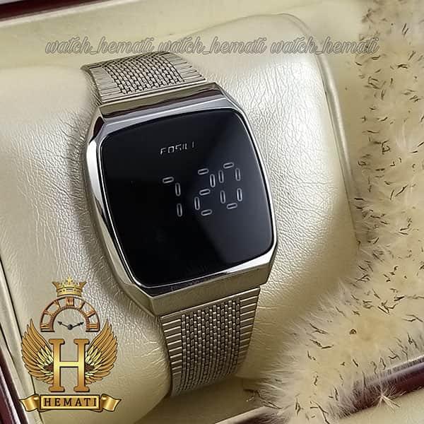 خرید ارزان ساعت ال ای دی اسپرت FOL108 صفحه مربع رنگ تمام نقره ای