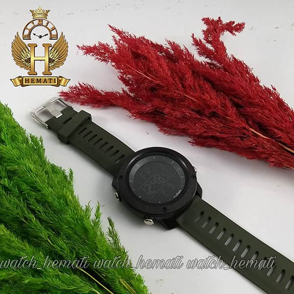 مشخصات ساعت مچی دیجیتال مردانه پیائوما piaoma p108 قاب مشکی با بند سبز