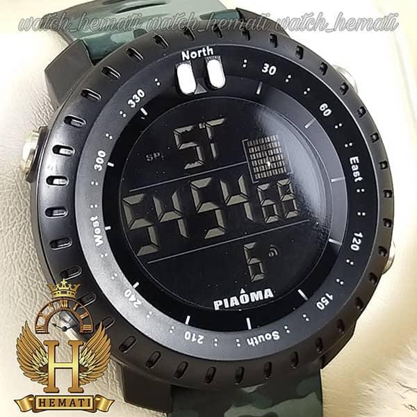 مشخصات ساعت مچی دیجیتال مردانه پیائوما piaoma p104 قاب مشکی با بند سبر چریکی