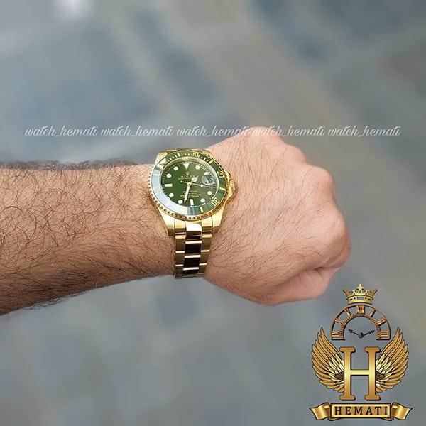 خرید ارزان ساعت مردانه رولکس ساب مارینر Rolex submariner rosb106 طلایی(صفحه سبز)