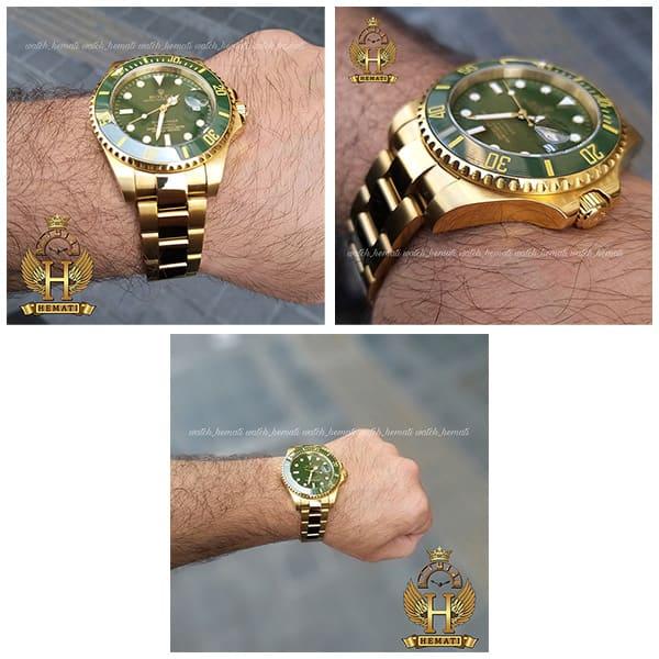 خرید اینترنتی ساعت مردانه رولکس ساب مارینر Rolex submariner rosb106 طلایی(صفحه سبز)