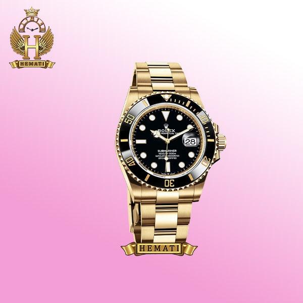 ساعت مردانه رولکس ساب مارینر Rolex submariner rosb105 طلایی(صفحه مشکی)