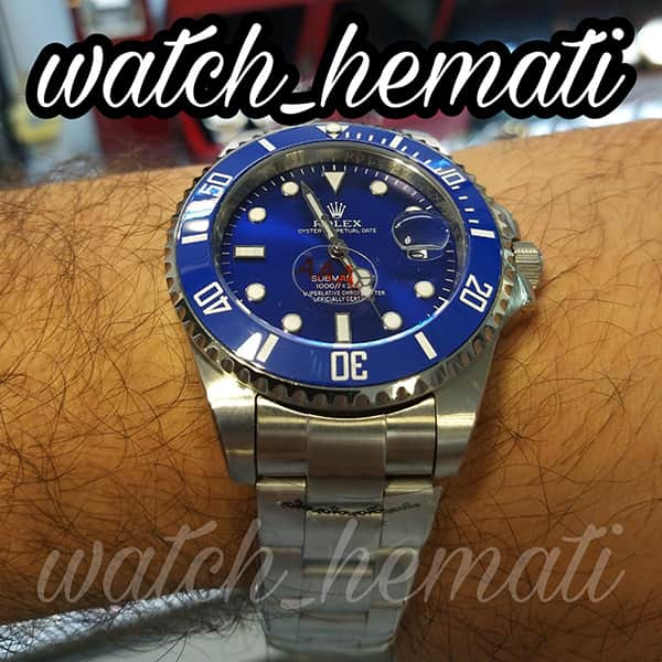 خرید اینترنتی ساعت مردانه رولکس ساب مارینر Rolex submariner rosb102 نقره ای(صفحه آبی)