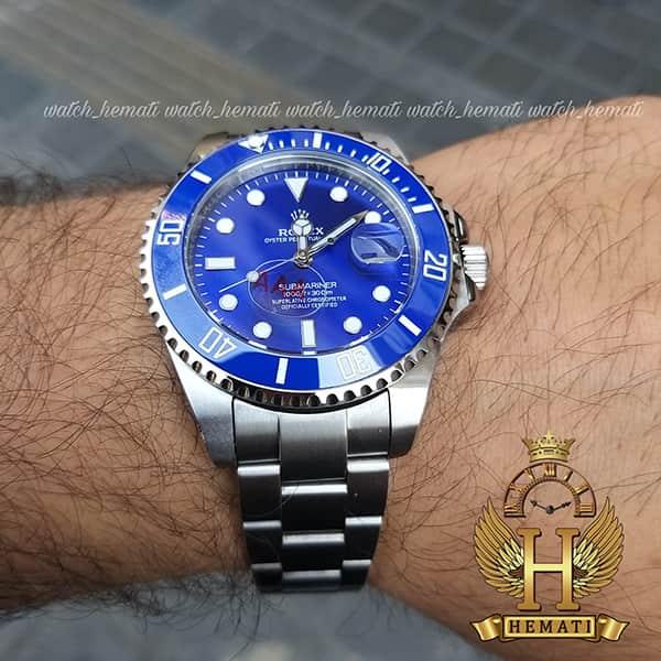 خرید ساعت مردانه رولکس ساب مارینر Rolex submariner rosb102 نقره ای(صفحه آبی)