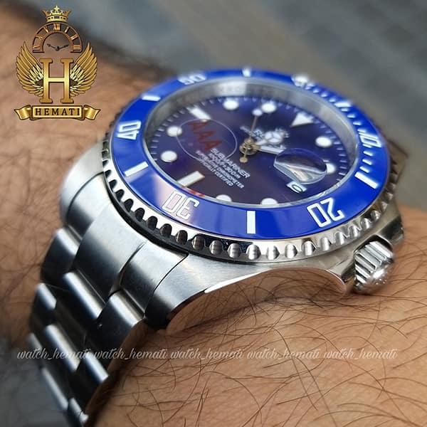 قیمت ساعت مردانه رولکس ساب مارینر Rolex submariner rosb102 نقره ای(صفحه آبی)