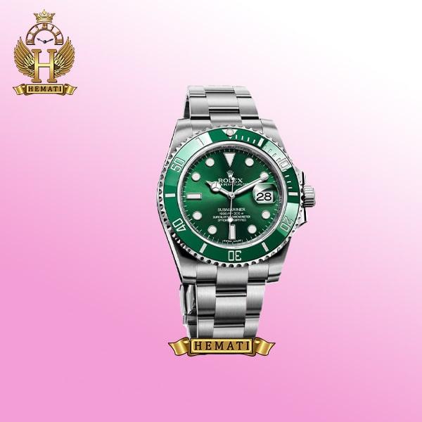 ساعت مردانه رولکس ساب مارینر Rolex submariner rosb103 نقره ای(صفحه سبز)