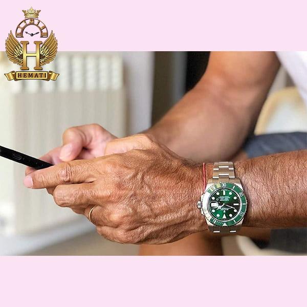 خرید اینترنتی ساعت مردانه رولکس ساب مارینر Rolex submariner rosb103 نقره ای(صفحه سبز)