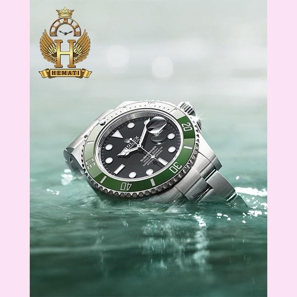 خرید انلاین ساعت مردانه رولکس ساب مارینر Rolex submariner rosb103 نقره ای(صفحه سبز)