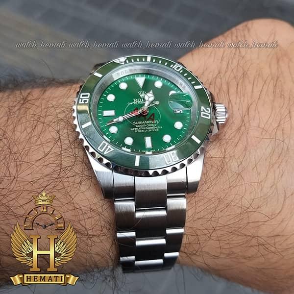 خرید ساعت مردانه رولکس ساب مارینر Rolex submariner rosb103 نقره ای(صفحه سبز)