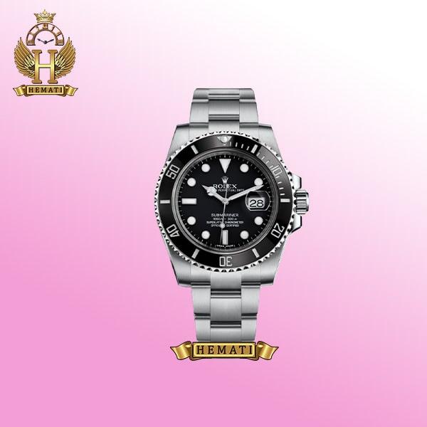 ساعت مردانه رولکس ساب مارینر Rolex submariner rosb104 نقره ای(صفحه مشکی)