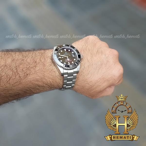 خرید ، قیمت ، مشخصات ساعت مردانه رولکس ساب مارینر Rolex submariner rosb104 نقره ای(صفحه مشکی)
