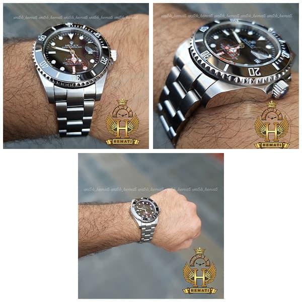 خرید ارزان ساعت مردانه رولکس ساب مارینر Rolex submariner rosb104 نقره ای(صفحه مشکی)