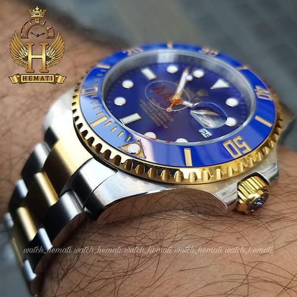 خرید ارزان ساعت مردانه رولکس ساب مارینر Rolex submariner rosb109 نقره ای_طلایی(صفحه آبی)